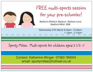 Sporty Mites – Multi Sports for pre-schoolers
