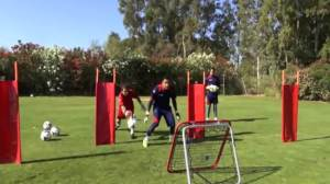 Keylor Navas training with Crazy Catch