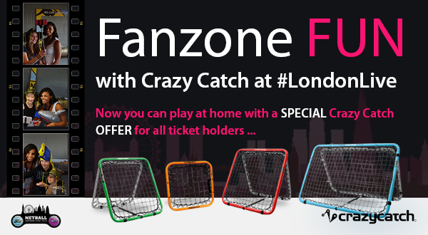 Buy your own Crazy Catch to take the Netball London Live fun home