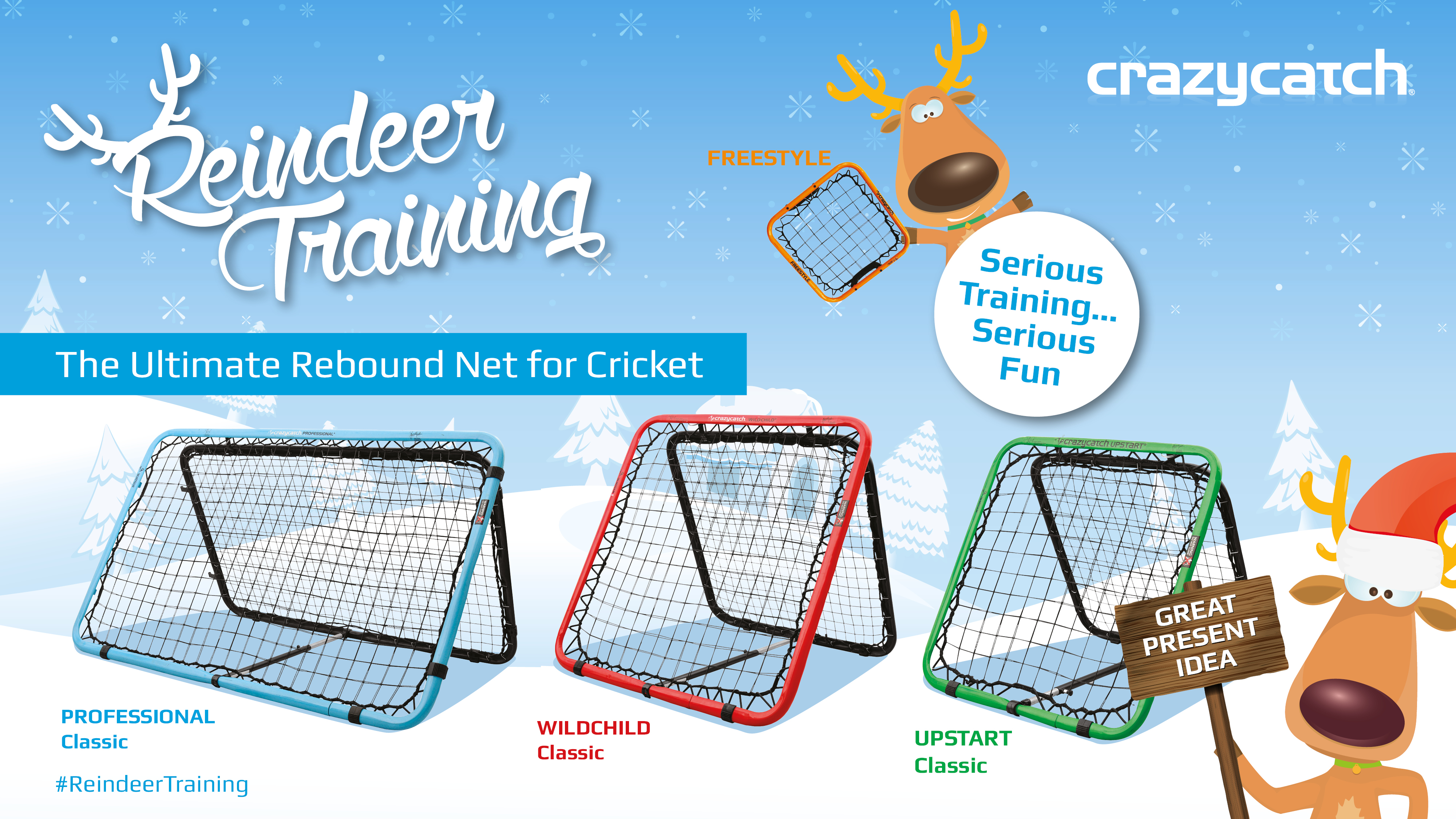 The Crazy Catch Classic range for Cricket