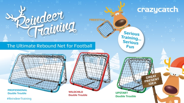 The Crazy Catch Double Trouble range for Football
